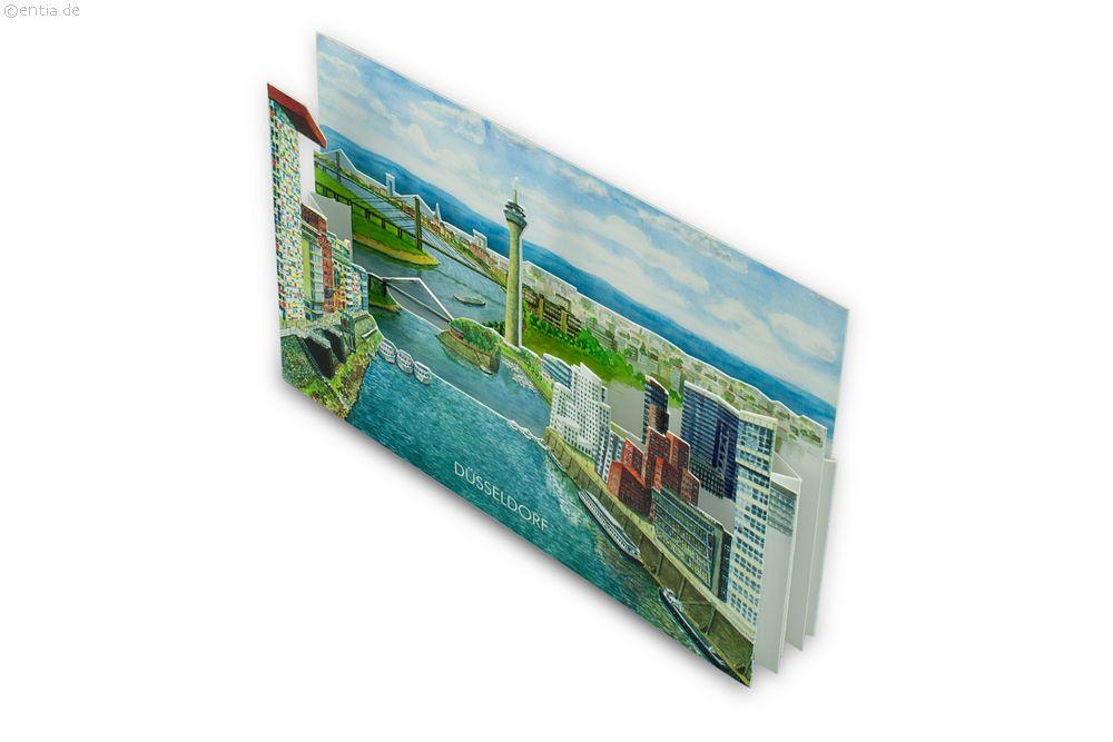 "3D-Faltkarte ""Düsseldorf"""