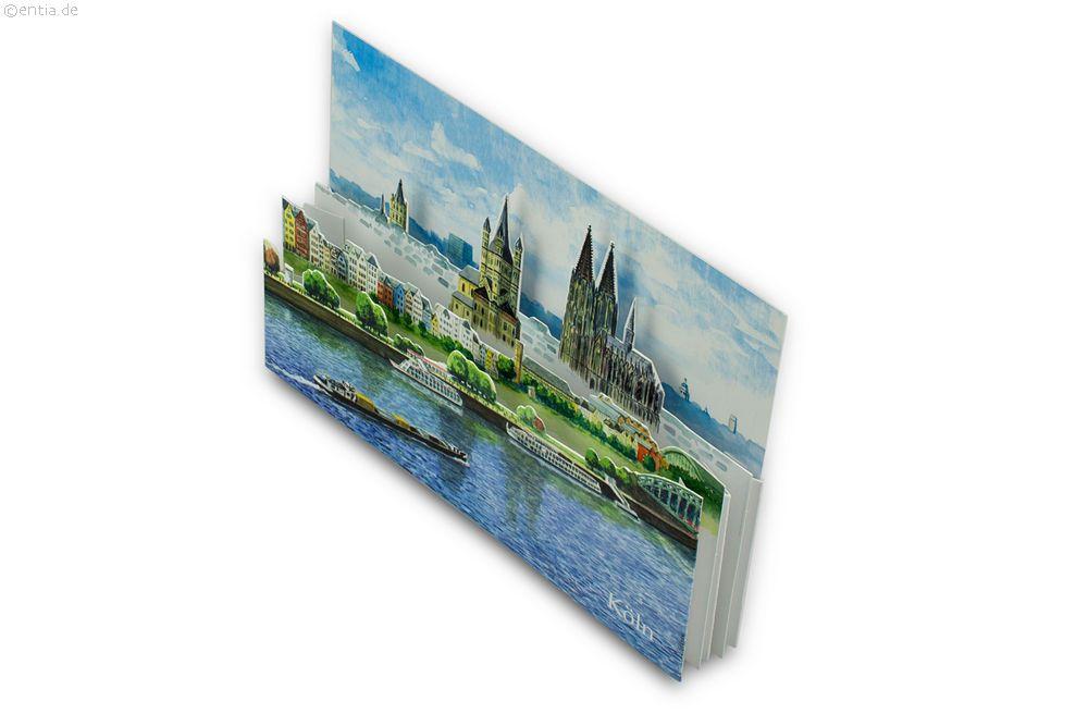 "3D-Faltkarte ""Köln"""