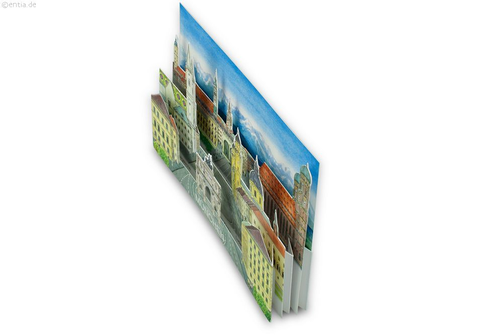 "3D-Faltkarte ""München"""