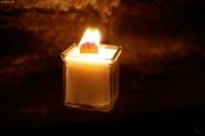 Öko-Kerze mit Holzdocht