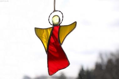 Tiffany-Engel rot/gelb