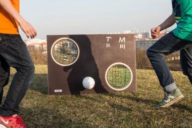 Miniball-Torwand bolzplatzbraun
