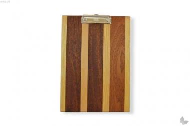 Klemmbrett aus stilvollem Holz, A4, dunkel gestreift