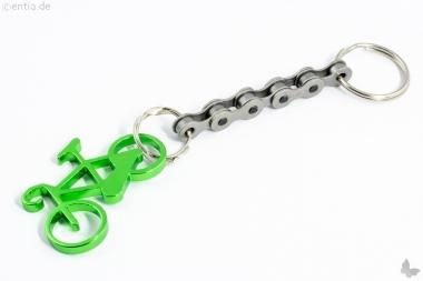 Schlüsselanhänger Fahrrad grün