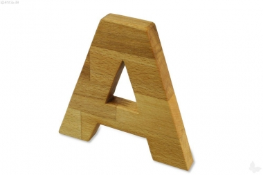 Holz-Buchstabe A