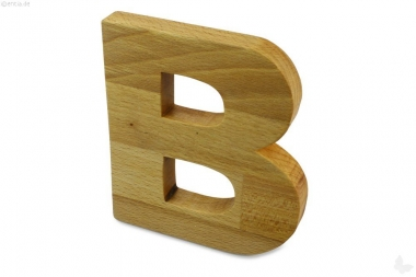 Holz-Buchstabe B