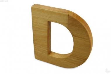 Holz-Buchstabe D