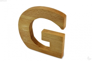 Holz-Buchstabe G