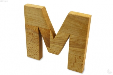 Holz-Buchstabe M