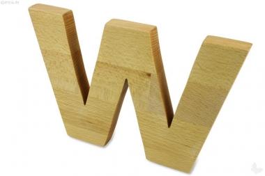 Holz-Buchstabe W
