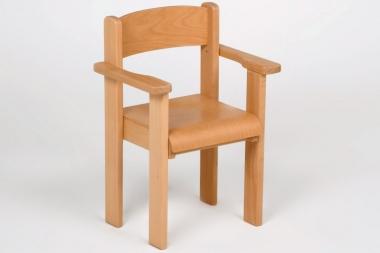 Kindermöbel Stuhl Mini mit Armlehnen, Buche