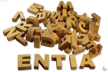 Komplett-Set Holz-Buchstaben
