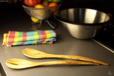 Salatbesteck Olivenholz