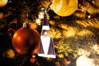Weihnachtsdeko Nikolaus Glas lila