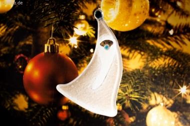 Weihnachtsdeko Nikolaus geschwungen mit grauem Glas