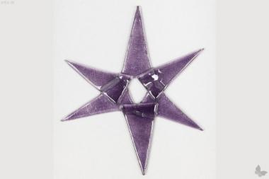 Weihnachtsdeko Stern groß aus lila Glas