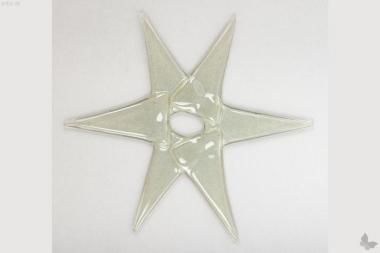 Weihnachtsdeko Stern groß aus grauem Glas