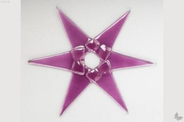 Weihnachtsdeko Stern groß aus rosa Glas