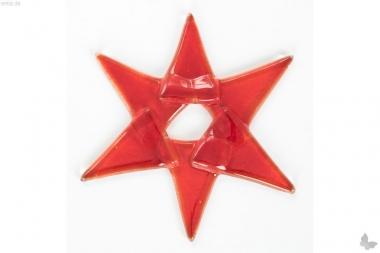 Weihnachtsdeko Stern klein aus rotem Glas