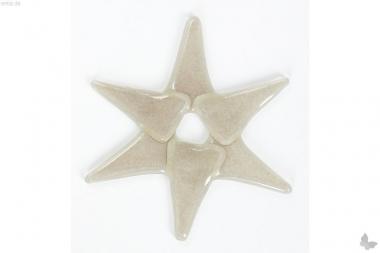 Weihnachtsdeko Stern klein aus grauem Glas