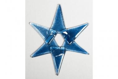 Weihnachtsdeko Stern klein aus dunkelblauem Glas