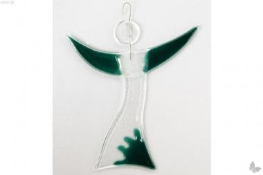 Engel aus grünem Glas