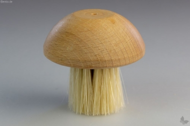 Pilzbürste aus geöltem Holz
