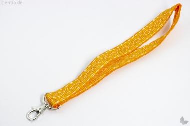 Handgewebtes Schlüsselband, orange
