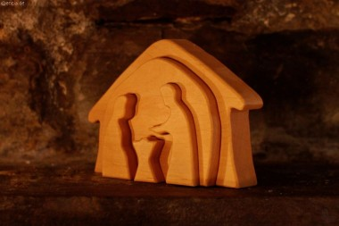Krippe Erlenholz, klein