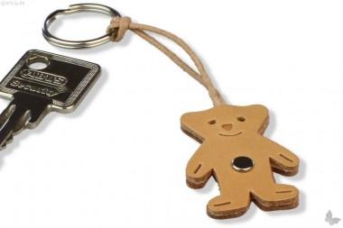 Schlüsselanhänger Leder Bärchen