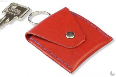 Schlüsselanhänger Kleines Leder-Täschchen