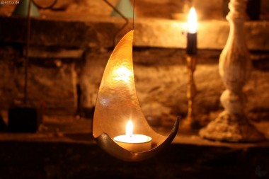 Kerzenhalter Kupfermond
