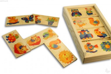 Domino Tiere, 24 Teile