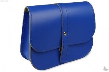 Leder-Kindergartentasche, leuchtend blau