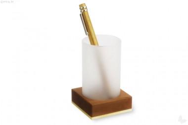 Stifteköcher Birne/Ahorn geölt mit Glas