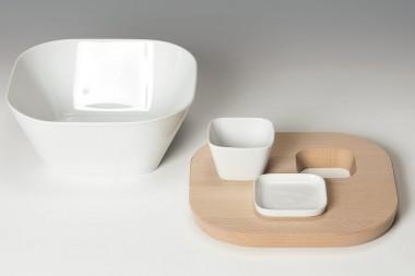 Salatschüssel aus Porzellan mit