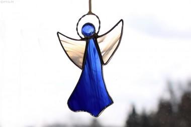Tiffany-Engel blau/weiß