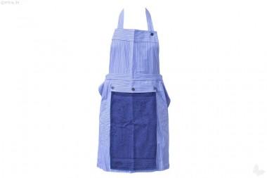 Damenschürze mit Handtuch blau