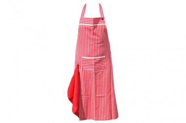 Herrenschürze mit Handtuch rot