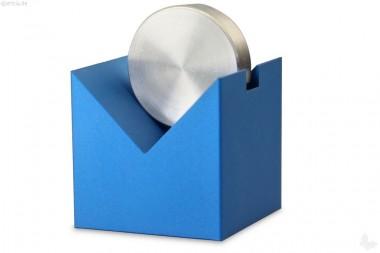 Papierhalter Aluminium blau