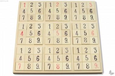 Sudoku aus Holz