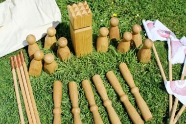 Wikingerspiel Kubb Eiche