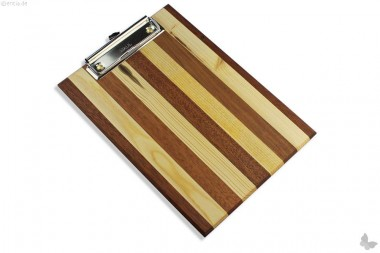 Klemmbrett aus stilvollem Holz, A5
