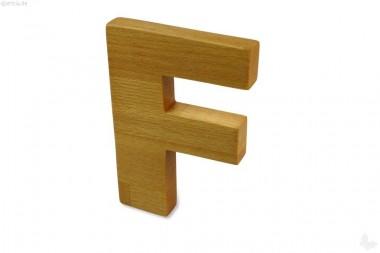 Holz-Buchstabe F