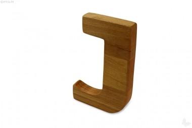 Holz-Buchstabe J