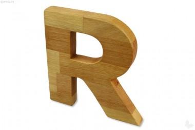 Holz-Buchstabe R