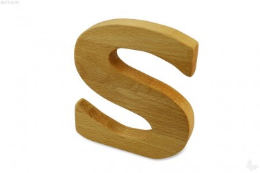 Holz-Buchstabe S