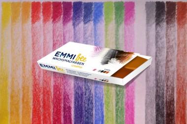 Emmibee Wachsmalfarbe Urfarben, pink grau braun