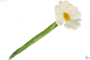Filz-Blume Margerite weiß