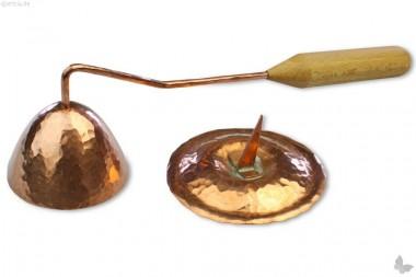 Kerzenlöscher Kupfer mit Ständer